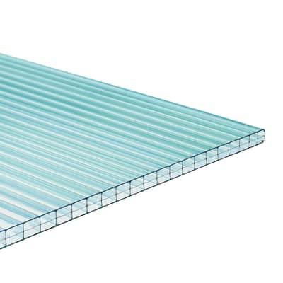 Lastra alveolare ONDULINE Onduclair PCMW in policarbonato H 98 x L 200 cm, Sp 4 mm