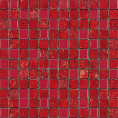 Mosaico Lacca H 30 x L 30 cm rosso