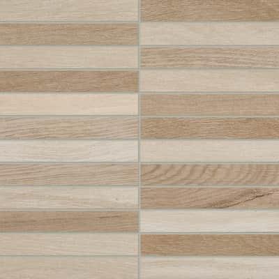 Mosaico Visual Wood Beige H 30 x L 30 cm beige