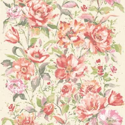 Carta da parati Fiore rosa