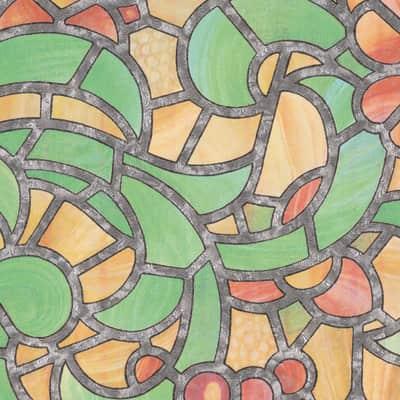 Pellicola adesiva per vetro Urbino multicolore 0.45x2 m