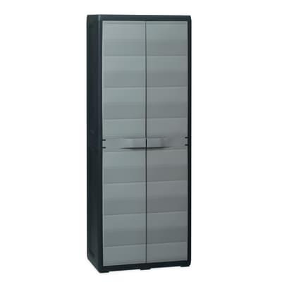 Armadio Elegance L 65 x P 38 x H 171 cm nero e grigio