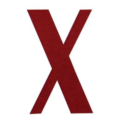 Lettera X adesivo, 15 x 10 cm