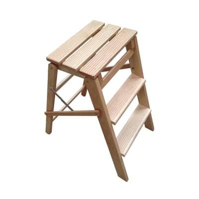 Scaletta Jolly 3 Plus in legno 3 gradini