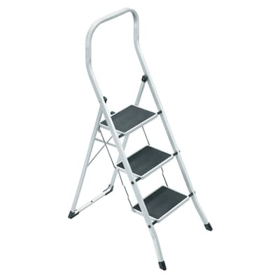 Scaletta superstep in acciaio 3 gradini prezzi e offerte for Leroy merlin scalette