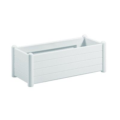 Fioriera Italia STEFANPLAST in plastica colore bianco H 35 cm, L 100 x P 43 cm
