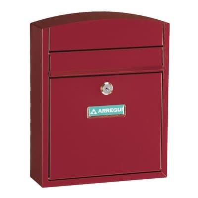 Cassetta postale ARREGUI formato Lettera, rosso, L 24 x P 0.95 x H 28.5 cm