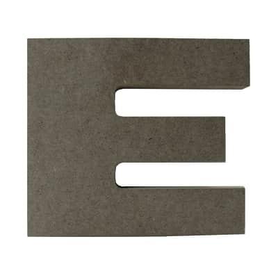 Scritta E 17x15 cm