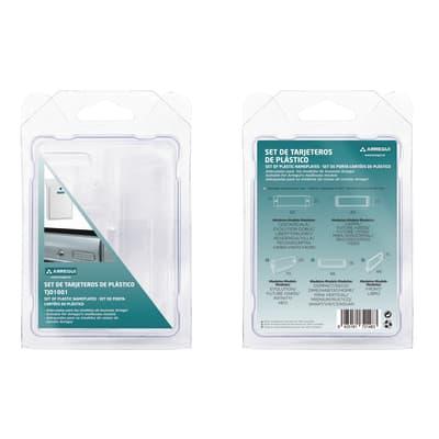 Porta-etichetta ARREGUI Kit per cassette postali in plastica abs L 15 x H 2.5 cm