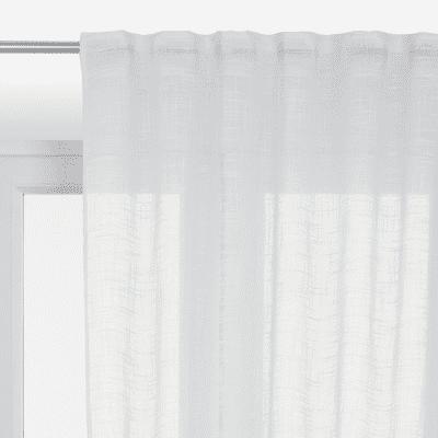 Tenda INSPIRE Amina bianco fettuccia con passanti nascosti 200x280 cm