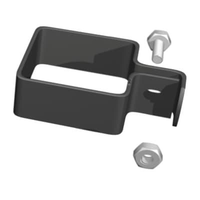 Collare di fissaggio in acciaio galvanizzato plastificato Medium L 5,5 x P 5.5 x x H 3.5 cm