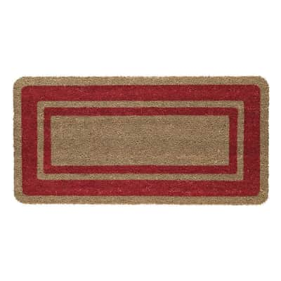 Zerbino in cocco rosso 40x80 cm