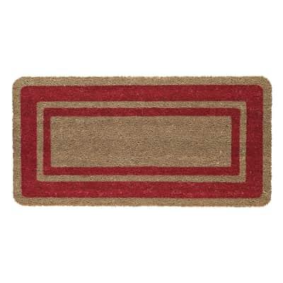 Zerbino Bordo in cocco rosso 50x90 cm