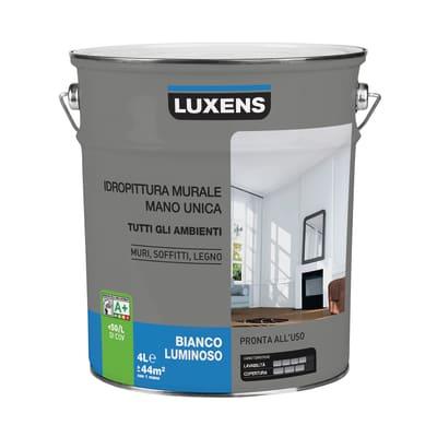 Pittura murale luxens pittura lavabile luxens 4 l lavab for Pittura lavabile prezzi leroy merlin