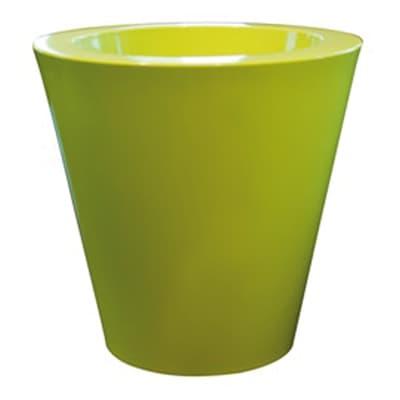 Vaso Shining in polietilene colore verde H 40 cm, Ø 40 cm
