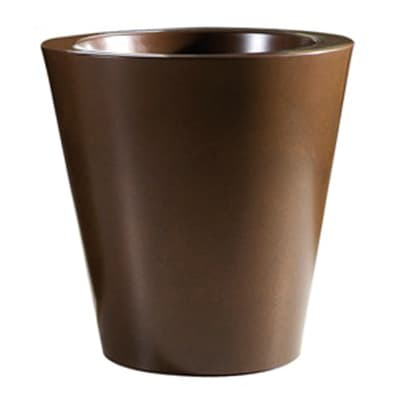Vaso Shining in plastica colore ruggine H 40 cm, Ø 40 cm