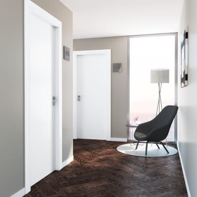 Porta a battente per hotel Radisson White bianco L 80 x H 210 cm destra