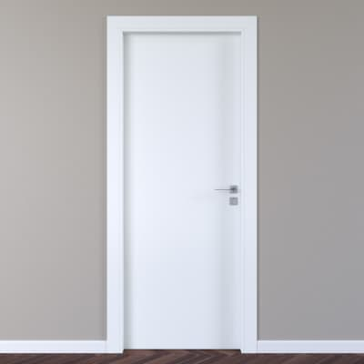Porta a battente per hotel Radisson bianco L 90 x H 210 cm sinistra