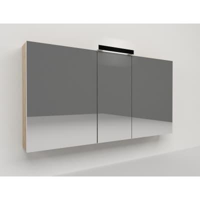 Specchio contenitore con luce Key L 120 x P 15 x H 62 cm grigio scuro