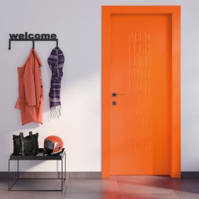 Porta a battente Keyboard Orange arancio L 80 x H 210 cm destra