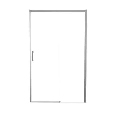 Porta doccia scorrevole Remix 170 cm, H 195 cm in alluminio, spessore 6 mm trasparente satinato