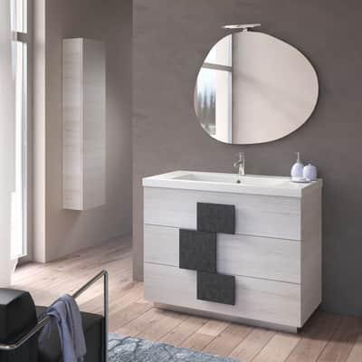 Mobile bagno Lava bianco L 105 cm