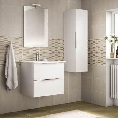 Mobile bagno bianco L 59 cm