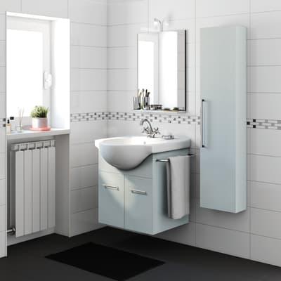 Mobile bagno Ginevra grigio L 56.5 cm