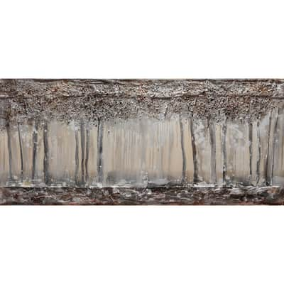 Quadro dipinto a mano Bosco In Inverno 180x80 cm