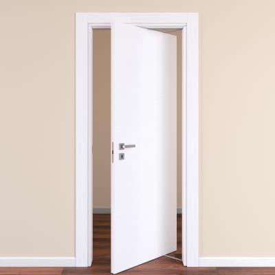 Porta rototraslante Plaza frassino bianco L 70 x H 210 cm destra