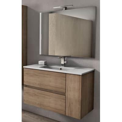 Set mobile da bagno con lavabo Aline rovere L 90 cm