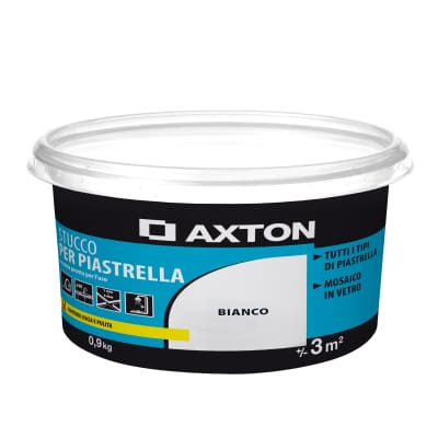 Stucco in pasta AXTON 0.9 kg bianco