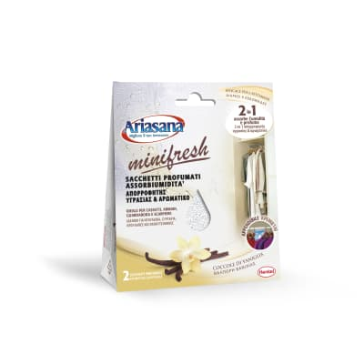 Assorbitore di umidità HENKEL Ariasana Minifresh profumo di vaniglia 2 x 50 g
