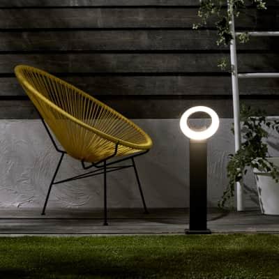 Palo della luce H60cm LED integrato in alluminio antracite 16W IP54 INSPIRE