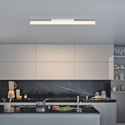 Lampadario Analeen bianco, in plastica, LED integrato 30W 3100LM IP20 INSPIRE