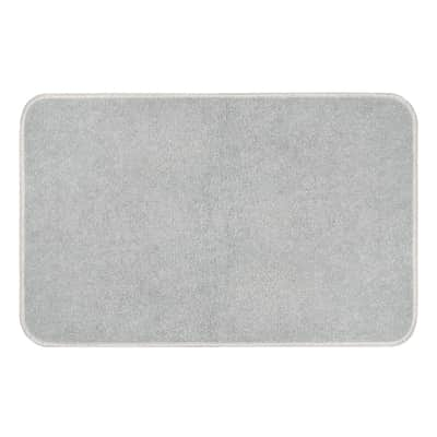 Tappeto bagno rettangolare Van gogh in cotone grigio perla 80 x 50 cm