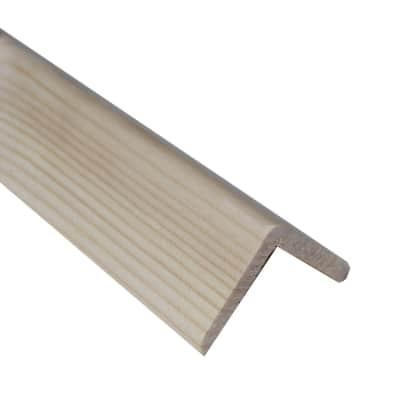 Paraspigolo in abete L 3 m x H 45 x Sp 45 mm