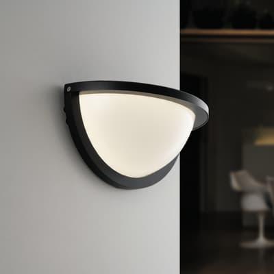Applique detroit led integrato in alluminio nero 10w for Profilo alluminio led leroy merlin
