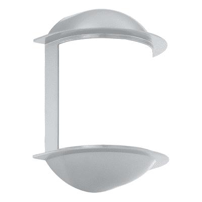 Applique Isoba in acciaio e plastica, grigio, GX53 MAX9W IP44 EGLO