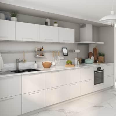 Cucina in kit DELINIA evora white bianco L 255 cm