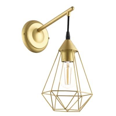 Applique design Byron oro, in metallo, 37.5x18 cm, INSPIRE
