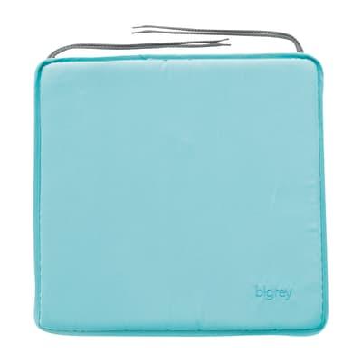 Cuscino per sedia Bigrey azzurro 40x3 cm