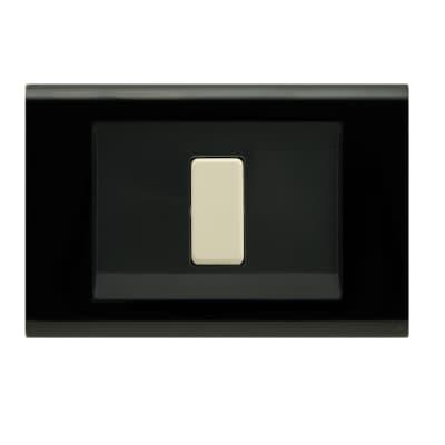 Placca FEB Laser 1 modulo nero compatibile con magic