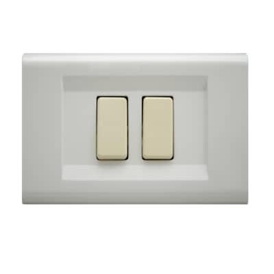 Placca FEB Laser 2 moduli bianco compatibile con magic