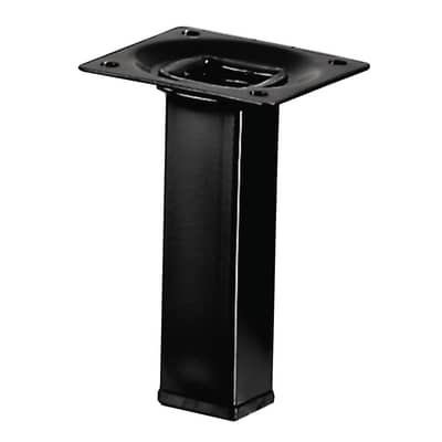 Gamba mobili HETTICH acciaio nero resina epossidica  L 25 cm x H 10 cm