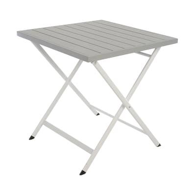 Tavolo da pranzo per giardino quadrato City con piano in alluminio L 70 x P 70 cm