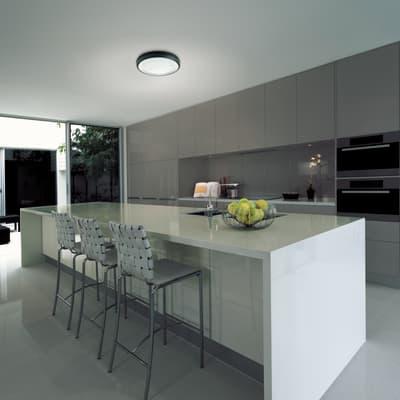 Plafoniera Loft LED integrato in alluminio, nero, 8W 1420LM IP65