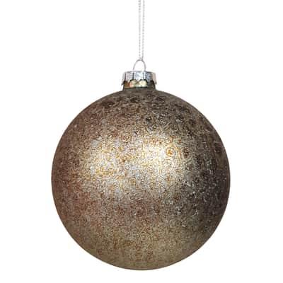 Sfera natalizia in box 2 pezzi in vetro argento Ø 10 cm