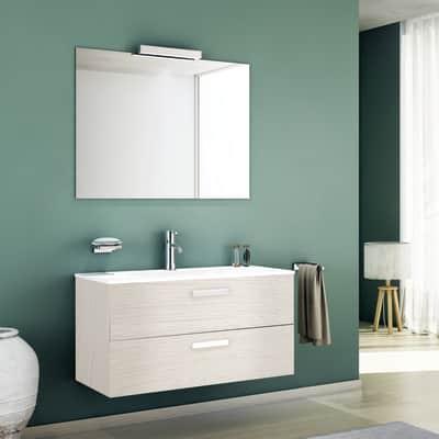Mobile bagno Key bianco L 90 cm