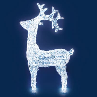 Renna 200 lampadine bianco freddo H 90 cm